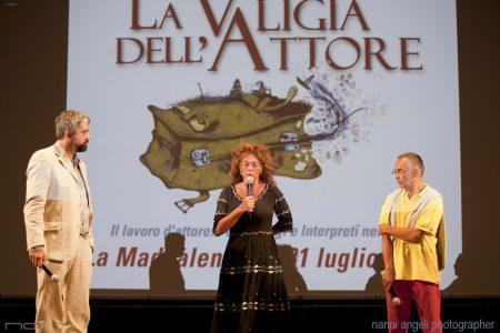 31 Luglio 2016 - Fortezza I Colmi - La Valigia dell'Attore 2016 - Boris Sollazzo -Carolina Rosi - Fabrizio Deriu - foto Nanni Angeli