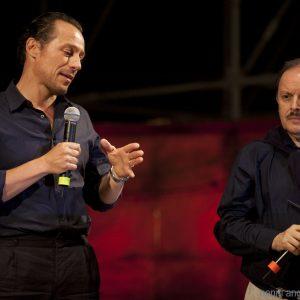 29 luglio - Fortezza I Colmi - La Valigia dell'Attore 2016 Premio Gian Maria Volonté 2016 a Stefano Accorsi con Enrico Magrellli - Foto di Nanni Angeli