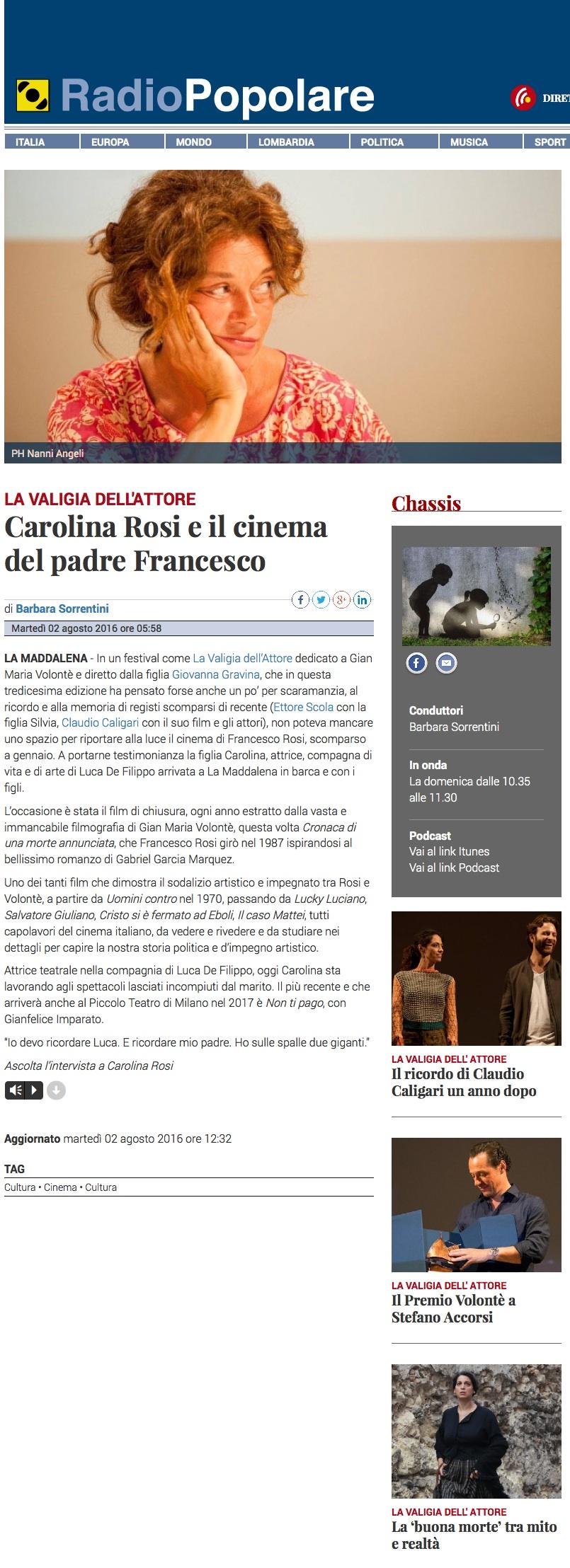Leggi l'articolo su Radiopopolare.it