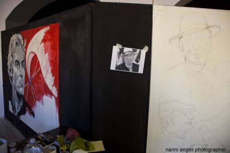 28 luglio - Fortezza I Colmi - Live Painting Tina Loiodice - La Valigia dell'Attore 2017 - foto di Nanni Angeli