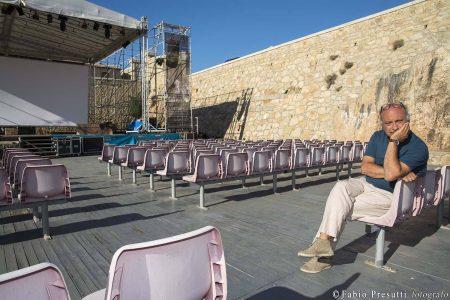 28 luglio - Fortezza I Colmi - Incontro con Babak Karimi condotto da Enrico Magrelli Boris Sollazzo Fabrizio Deriu - La Valigia dell'Attore 2017 - foto di Fabio Presutti