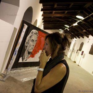 26 luglio - Fortezza i Colmi - mostra della street artist Tina Loiodice - foto di Nanni Angeli
