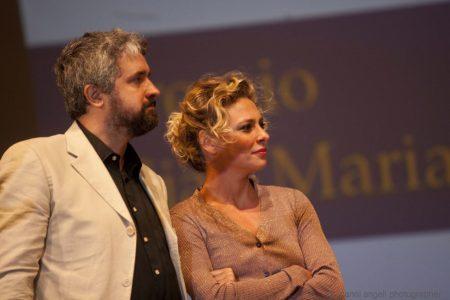 26 luglio - Fortezza i Colmi - Premio Volonté - Boris Sollazzo eJasmine Trinca - foto di Nanni Angeli