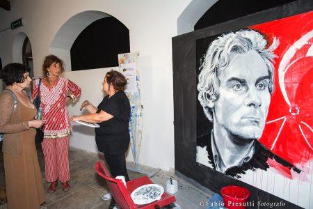 27 luglio - Fortezza i Colmi - mostra live painting Volti del Cinema di Tina Loiodice - La Valigia dell'Attore 2017 - foto di Fabio Presutti