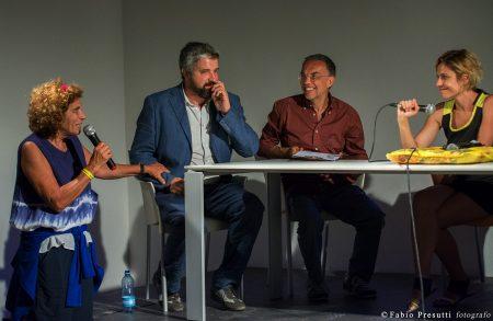 29 luglio - Fortezza I Colmi - Incontro con Antonia Truppo - Giovanna Gravina, Boris Sollazzo, Luigi Deriu, Antonia Truppo - La Valigia dell'Attore 2017 - foto di Fabio Presutti