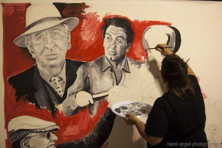 live painting di Tina Loiodice