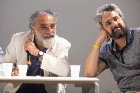 La valigia dell'attore 2019 - 28 luglio - Magazzini Ex Ilva - Incontro - Alessandro Haber e Boris Sollazzo - foto di Nanni Angeli