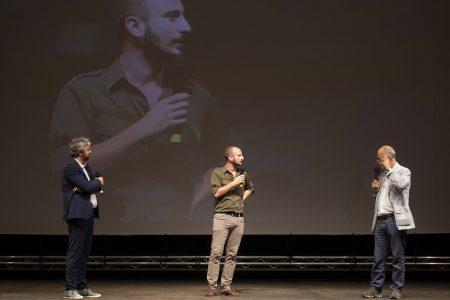 La valigia dell'attore 2019 - 27 luglio - Fortezza I Colmi - Boris Sollazzo, Giovanni Battista Origo e Fabio Ferzetti - foto di Nanni Angeli