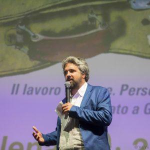 La valigia dell'attore 2019 - La Maddalena 28 luglio 2019 - Premio Gian Maria Volonté. Boris Sollazzo. Foto di Nanni Angeli