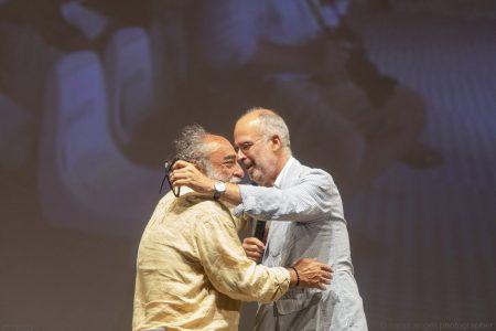 La valigia dell'attore 2019 - 27 luglio - Fortezza I Colmi - Alessandro Haber e Fabio Ferzetti - foto di Nanni Angeli