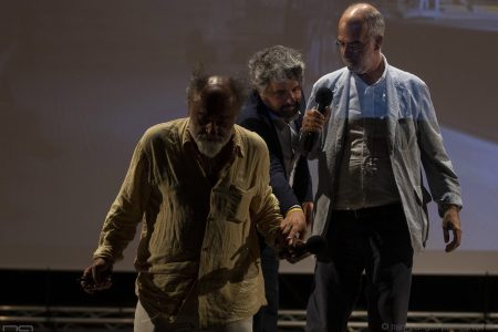 La valigia dell'attore 2019 - 27 luglio - Fortezza I Colmi - Alessandro Haber, Boris Sollazzo e Fabio Ferzetti - foto di Nanni Angeli