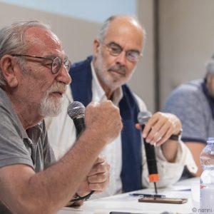 La valigia dell'attore 2019 - 28 luglio - Magazzini Ex Ilva - Renato Carpentieri, Fabio Ferzetti e Boris Sollazzo - foto di Nanni Angeli