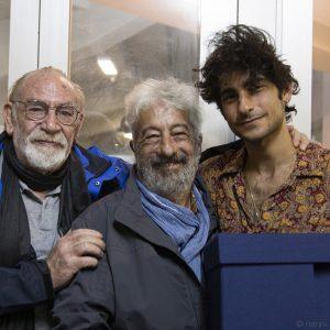 La valigia dell'attore 2019 - La Maddalena 28 luglio 2019 - Renato Carpentieri, Gianfranco Cabiddu e Lorenzo Fantastichini. Foto di Nanni Angeli