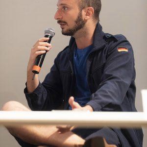 La valigia dell'attore 2019 - 28 luglio - Magazzini Ex Ilva - Incontro - Giovanni Battista Origo - foto di Nanni Angeli