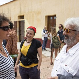 La valigia dell'attore 2019 - 28 luglio - Magazzini Ex Ilva - Incontro - Monica Bulciolu e Gianfranco Cabiddu - foto di Nanni Angeli