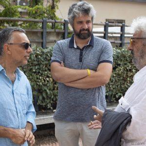 La valigia dell'attore 2019 - 28 luglio - Magazzini Ex Ilva - Fabrizio Deriu, Boris Sollazzo e Gianfranco Cabiddu - foto di Nanni Angeli