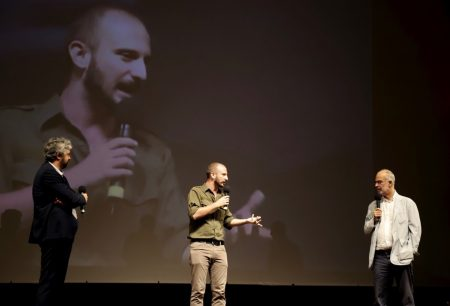 """La valigia dell'attore 2019 - 27 luglio - Fortezza I Colmi - Presentazione del corto """"Gong!"""" di Giovanni Battista Origo - foto di Ugo Buonamici"""