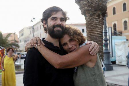 La Valigia dell'Attore – 23 luglio 2019 – Piazza Umberto I - Francesco Piras e Giovanna Gravina- Foto di Ugo Buonamici