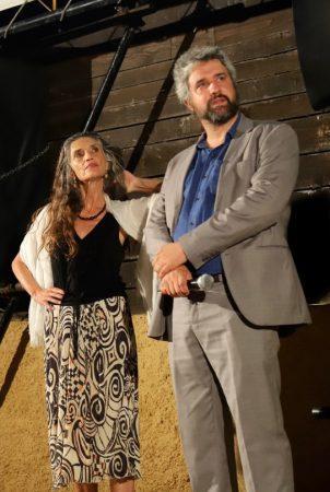 La Valigia dell'Attore – 23 luglio 2019 – Arena La Conchiglia – Angela Molina e Boris Sollazzo - presentazione del film L'uomo che comprò la Luna (2018) - Foto di Ugo Buonamici