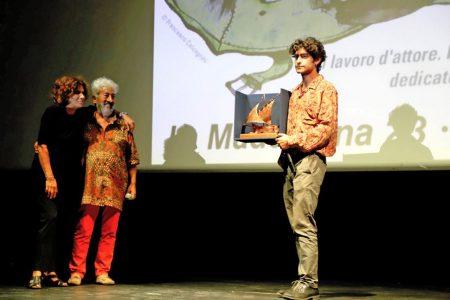 La valigia dell'attore 2019 - 28 luglio - Sala Primo Longobardo - Giovanna Gravina, Gianfranco Cabiddu e Lorenzo Fantastihini. Foto di Ugo Buonamici
