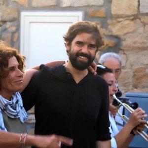 La Valigia dell'Attore – 23 luglio 2019 – all'ingresso dell'Arena La Conchiglia – Giovanna Gravina e Francesco Piras - Foto di Ugo Buonamici