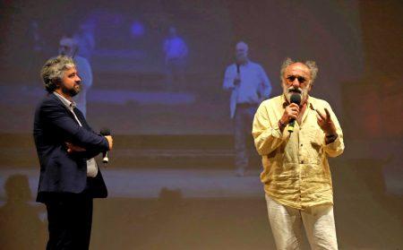 La valigia dell'attore 2019 - 27 luglio - Fortezza I Colmi - Boris Sollazzo e Alessandro Haber - foto di Ugo Buonamici