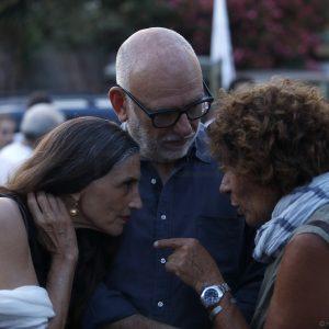 La Valigia dell'Attore – 23 luglio 2019 – Angela Moloina, Fabio Canu e Giovanna Gravina all'ingresso dell'Arena La Conchiglia – Foto di Nanni Angeli