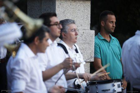 La Valigia dell'Attore – 23 luglio 2019 – La Banda all'ingresso dell'Arena La Conchiglia – Foto di Nanni Angeli