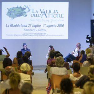 La Valigia dell'attore – 31 luglio 2020 – Fortezza I Colmi – Ore 11.00 - Incontro con Nora Stassi, Luciano Curreli, Mario Piredda - foto © Nanni Angeli