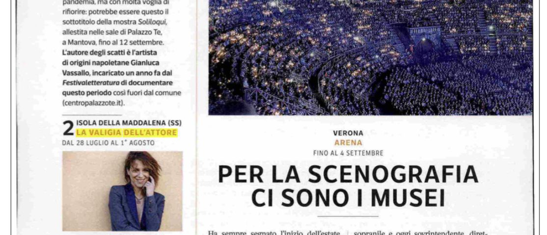 7 - Sette - Corriere della Sera - 25 giugno 2021: La Valigia dell'Attore. Laboratori e serate tra artisti