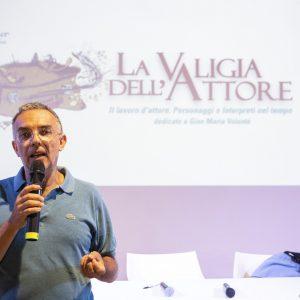 La Valigia dell'attore – 1 agosto 2021 – Fortezza I Colmi – Ore 11,00 - Il campo magnetico dell'attore - Fabrizio Deriu - foto ©Nanni Angeli