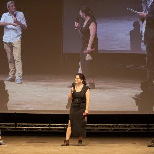 La Valigia dell'attore – 28 luglio 2021 – Fortezza I Colmi – Pierfrancesco Diliberto (Pif), Silvia Scola e Fabio Ferzetti - foto ©Nanni Angeli