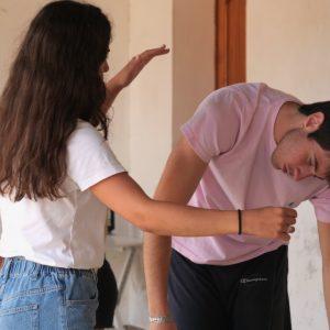 Valigialab 2021 – giorno 3: Laboratorio residenziale gratuito sulle tecniche di recitazione condotto da Isabella Ragonese con la collaborazione di Fabrizio Deriu e Giuseppe Sangiorgi - ph ©Ugo Buonamici